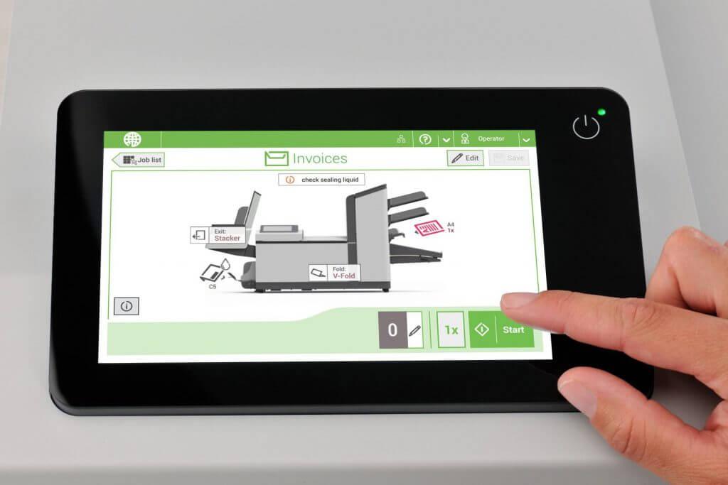 L'interface tactile simple d'utilisation des AUTO PLIS V3 et V4.